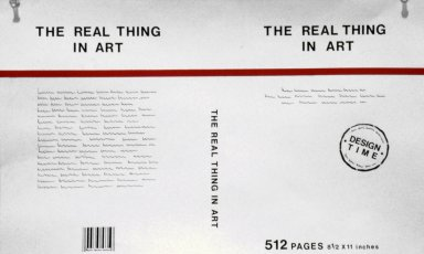 Book and Cover for The Real Thing in Art