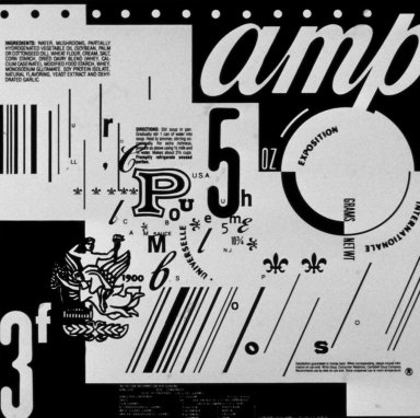 Type Study (Campbells Soup Label)