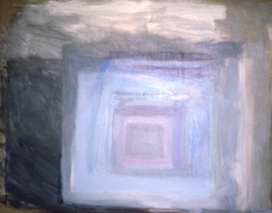 A collection of Helene Herzbrun abstract square and diamond motif paintings and works on paper