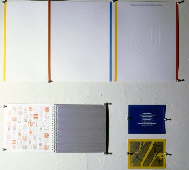 A collection of works by the artist on exhibit at the Swain School of Design.