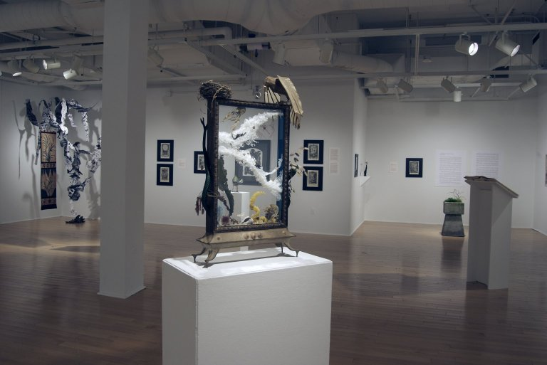 """[Former Graduate Student Works Featured in SCIENCE, RELIGION, ART: Greater New Bedford Area Artists Responding to JOHANN JACOB SCHEUCHZER's """"PHYSICA SACRA""""]"""