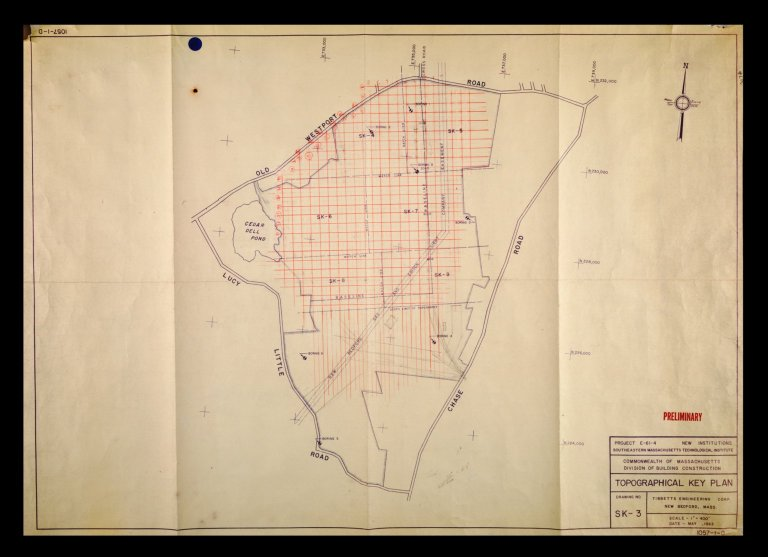 """Preliminary Topographical Key Plan, SK-3 , 1""""=400'"""