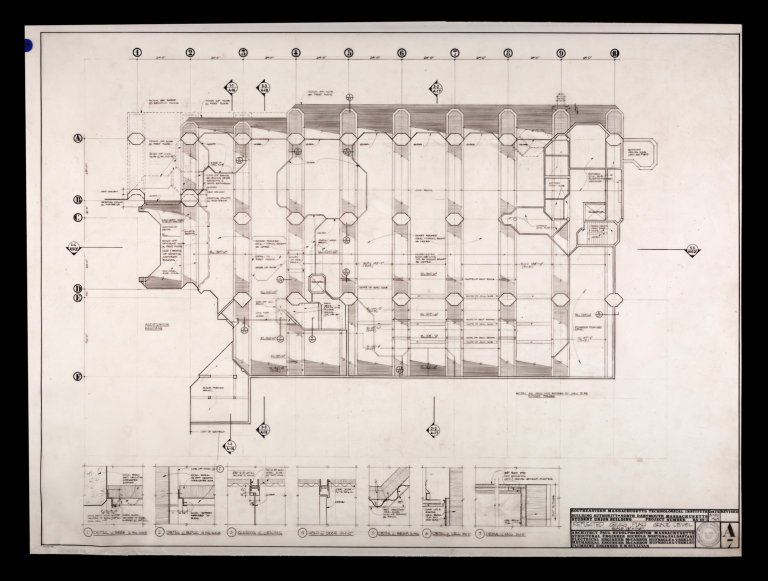 "Project BA-69-1, Reflected Ceiling Plan and Grade Level A7, 1/8""=1'-0"""