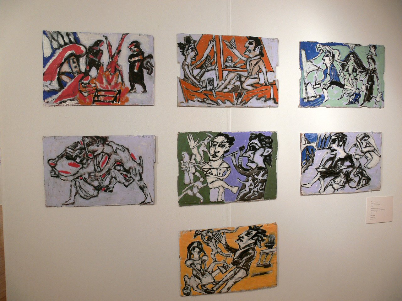 [ An installation of Richard Winther paintings]